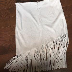 BB Dakota Skirts - BB Dakota NWT faux suede fringe skirt